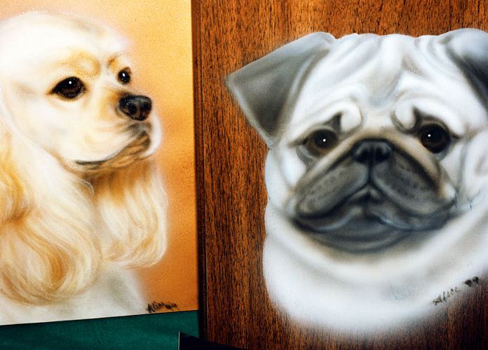 Dog Art, Lake Lawn Lodge, Delavin, Wisconsin, 1999