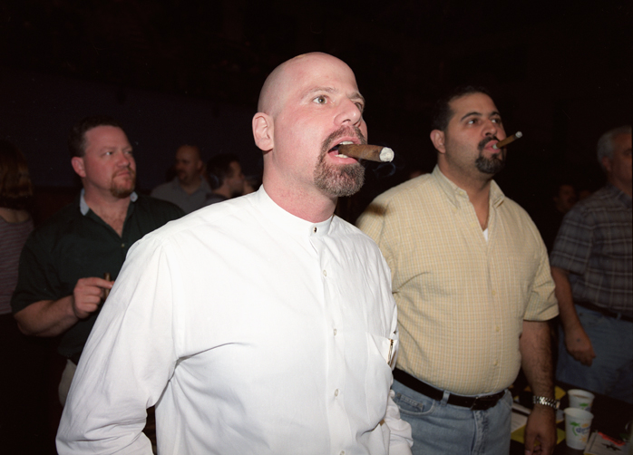 Police officers at Super Cop 2000 boxing match, Chicago, Illinois, 2000