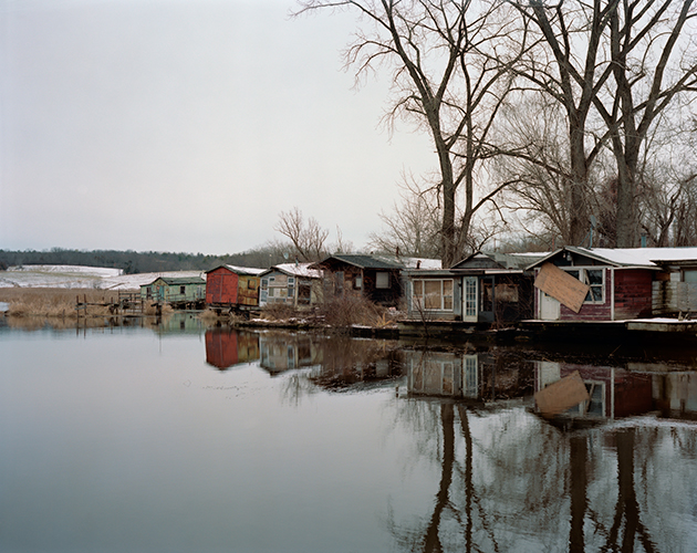 Furgary Fishing Shacks, Hudson, New York, Winter 2016