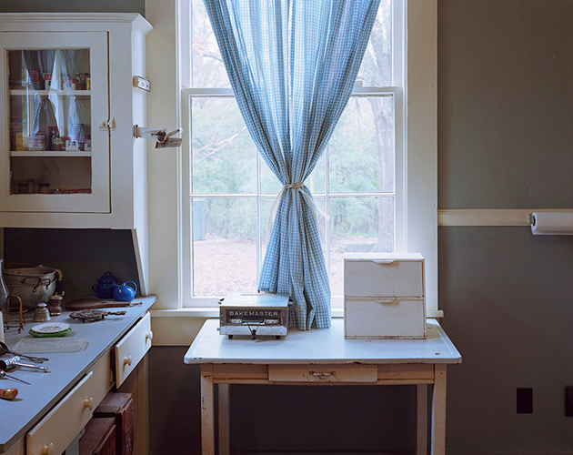 William Faulkner's Kitchen Curtains, Rowan Oak, Oxford, MS, 2018