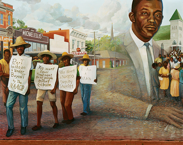 Mural Commemorating the 1966 Port Gibson Boycott Led by the NAACP, Port Gibson, Mississippi, 2020
