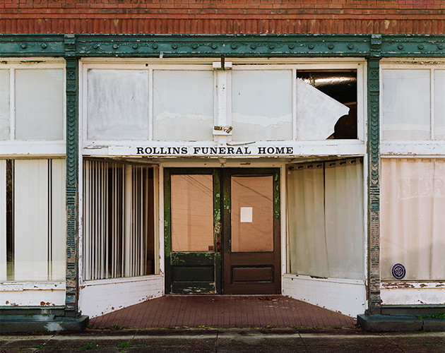 Rollins Funeral Home, Port Gibson, Mississippi, 2020