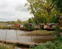 Furgary Fishing Shacks, Hudson, New York, Fall 2016 thumbnail